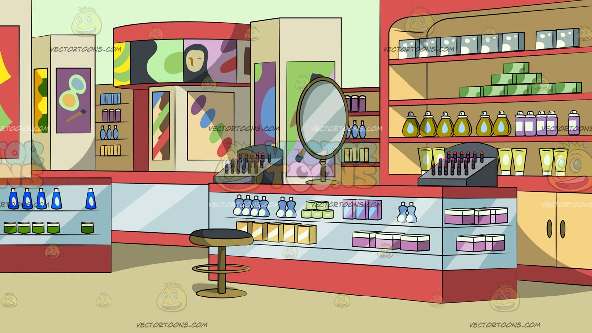 Department Store Cosmetics Section Background