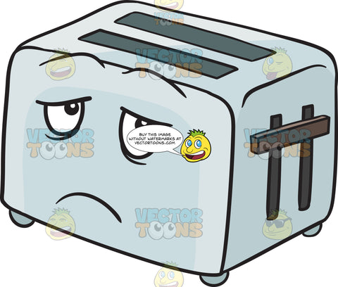 Depressed Look On Pop Up Toaster Emoji