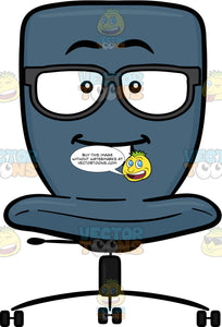 Nerd Looking Swivel Desk Chair Wearing Eye Glasses