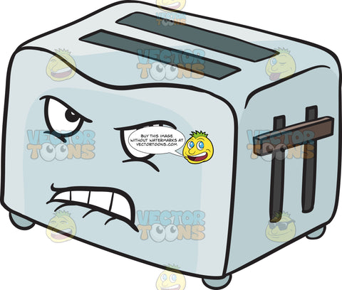 Disgruntled And Angry Pop Up Toaster Emoji
