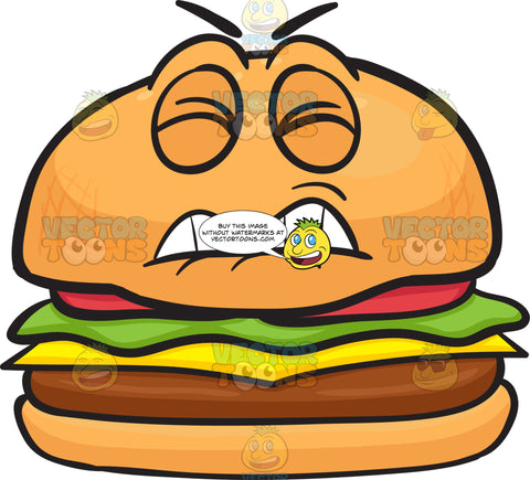 Disgruntled And Irritated Cheeseburger