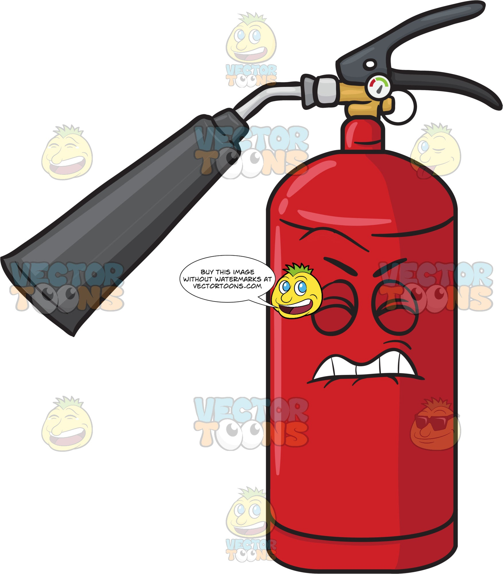 Disgruntled And Startled Fire Extinguisher Emoji