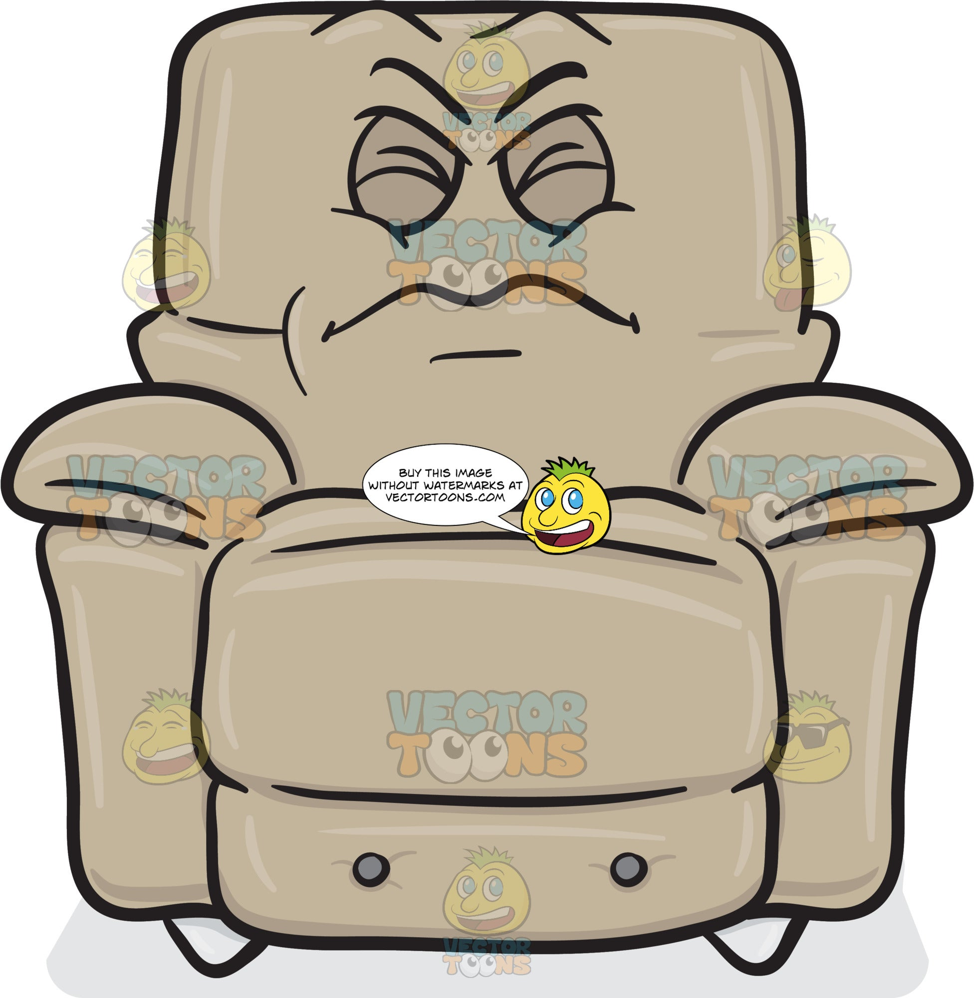 Disgruntled Look On Stuffed Chair Emoji
