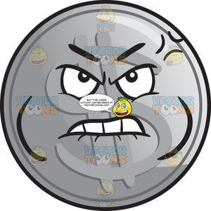Distressed Silver Coin Emoji