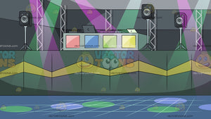 Dj Booth At A Nightclub Background