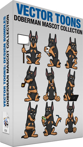 Doberman Mascot Collection