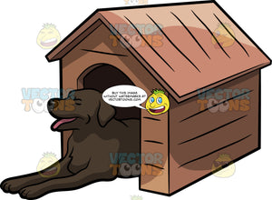 A Big Dog In A Dog House