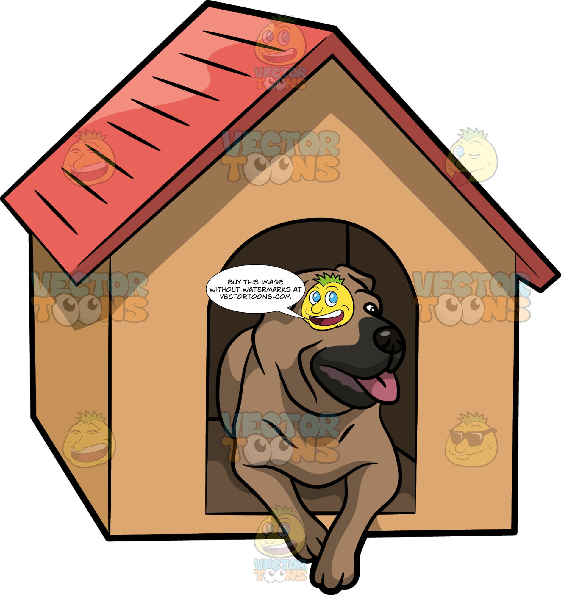 An Observant Dog In A Dog House