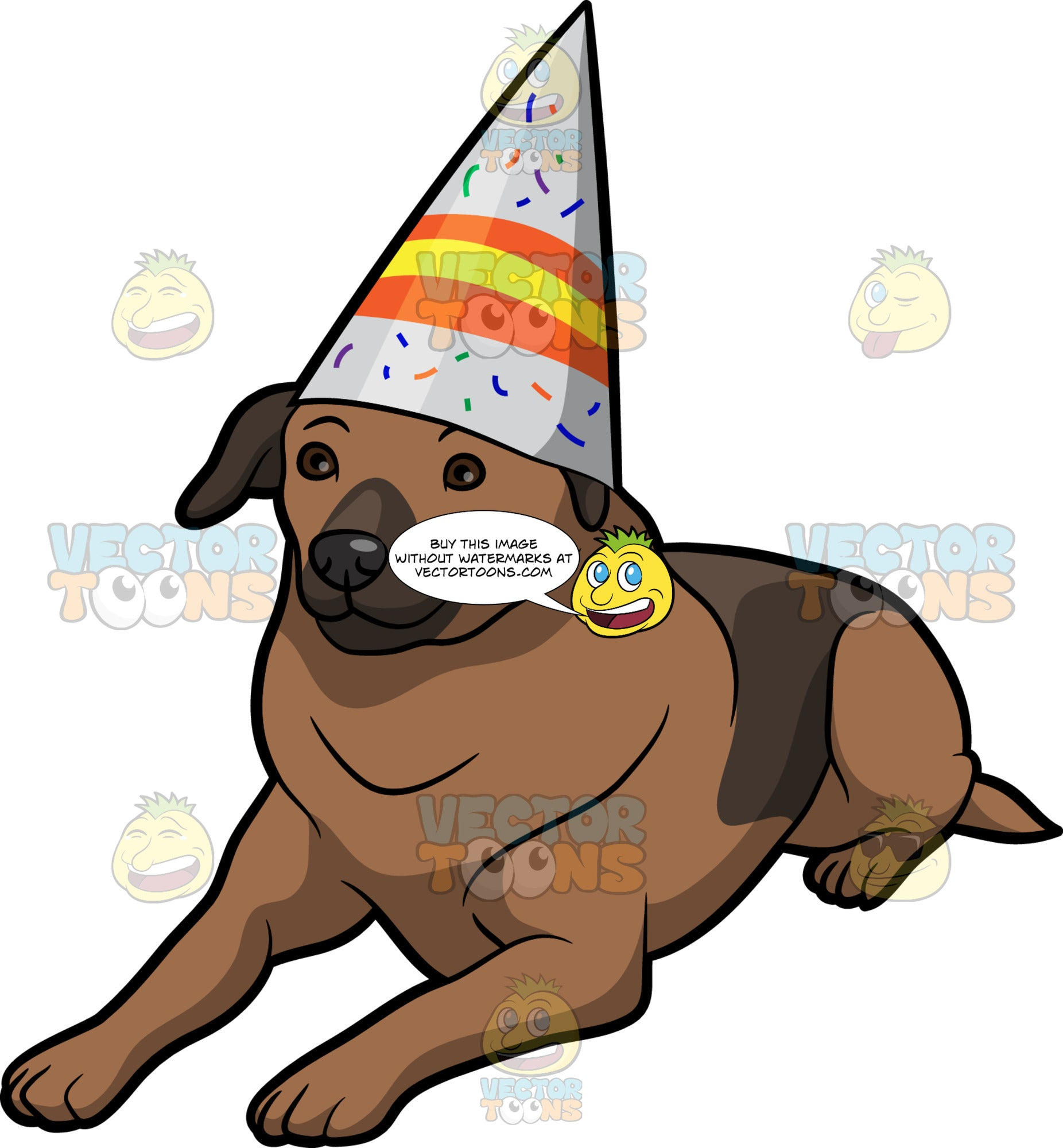 A Labrador Birthday Dog Clipart Cartoons By VectorToons