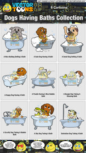 Dogs Having Baths Collection