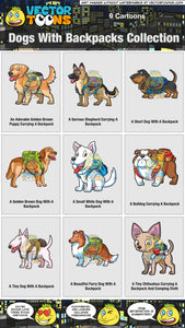 Dogs With Backpacks Collection
