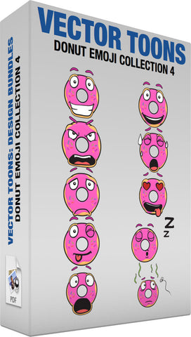Donut Emoji Collection 4