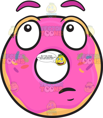 Donut With Wondering Look On Face Emoji