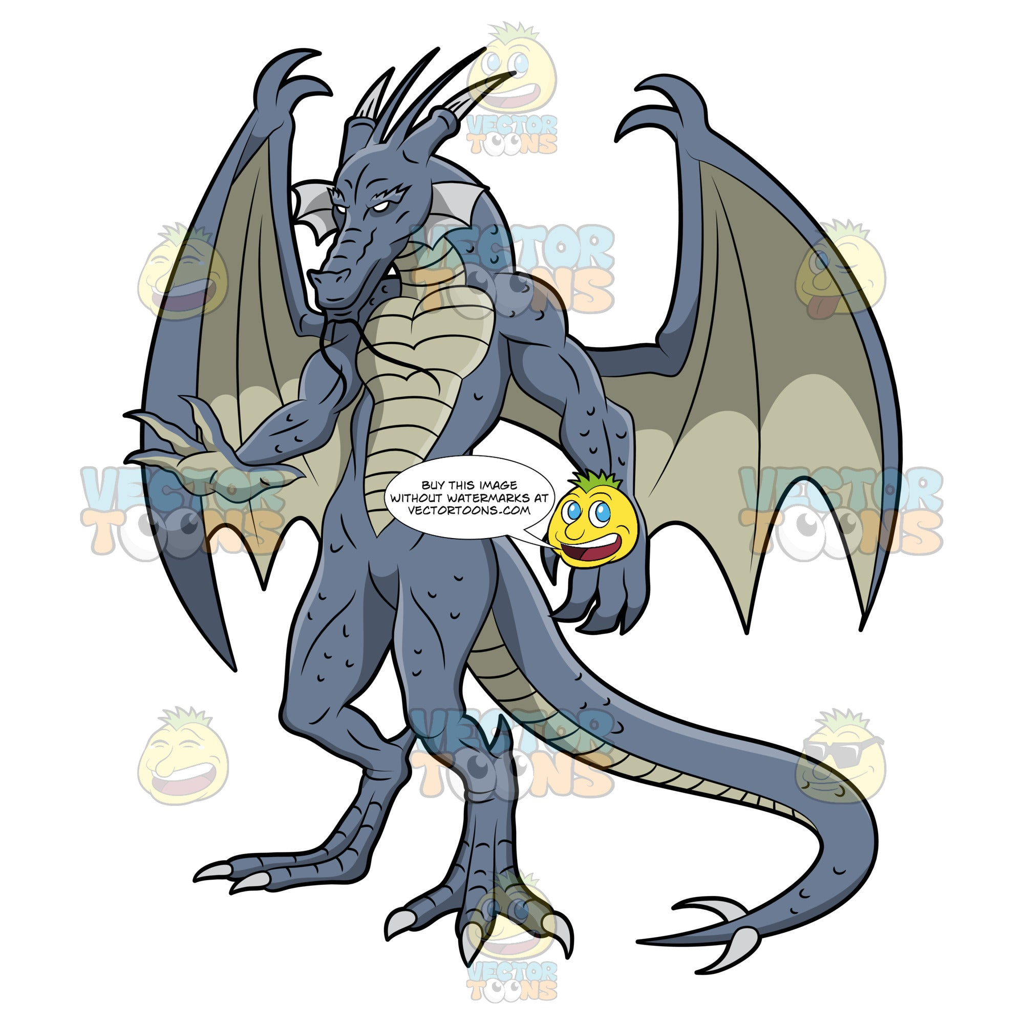 A Scary Blue Dragon