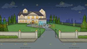 Driveway To A Mansion Background