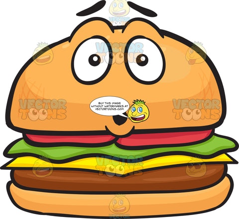 Dumbfounded Look On Cheeseburger