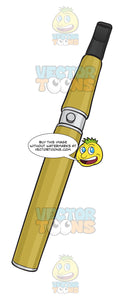 Yellow E-Cigarette Without A Visual Tank