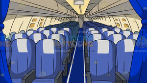 Economy Class Airline Section Background