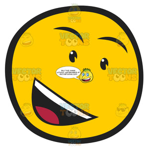 Gosspiy Talking Open Mouthed Smiley Face Emoticon