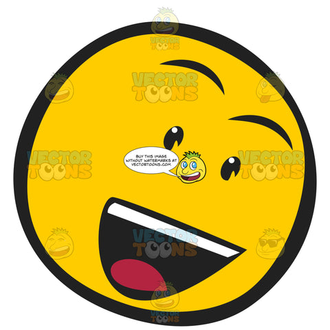 Sassy Smart Bold Talking Wise Guy Smiley With Raised Eyebrows