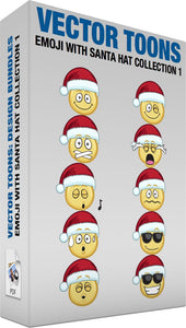 Emoji With Santa Hat Collection 1