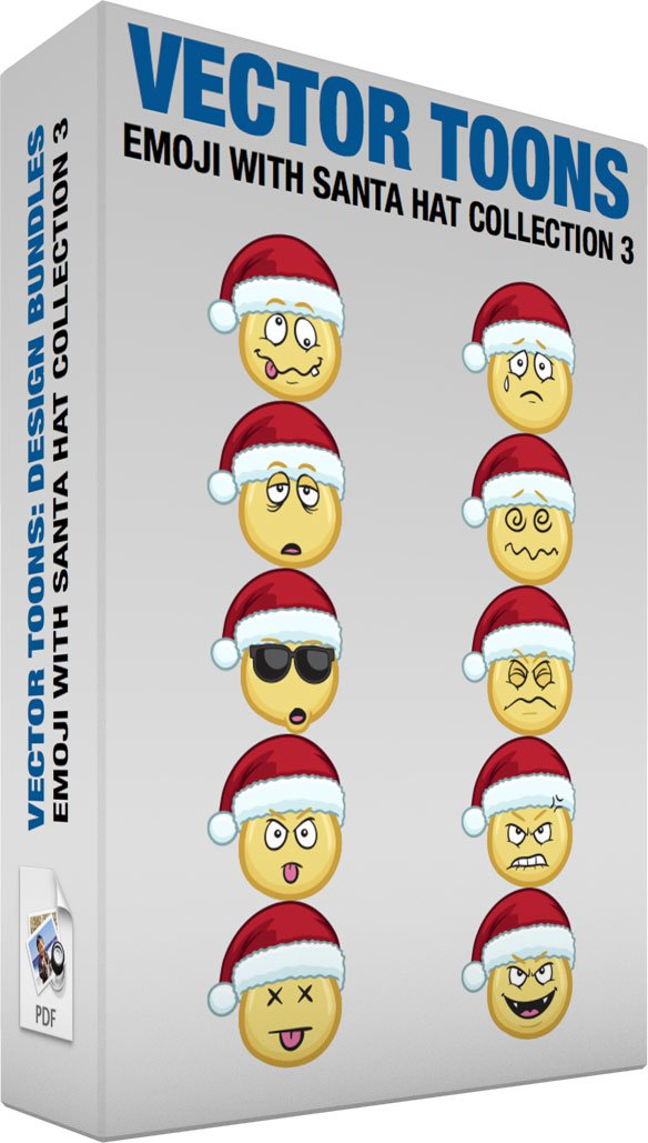 Emoji With Santa Hat Collection 3