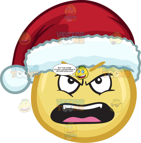 A Nagging Emoji Wearing A Santa Hat