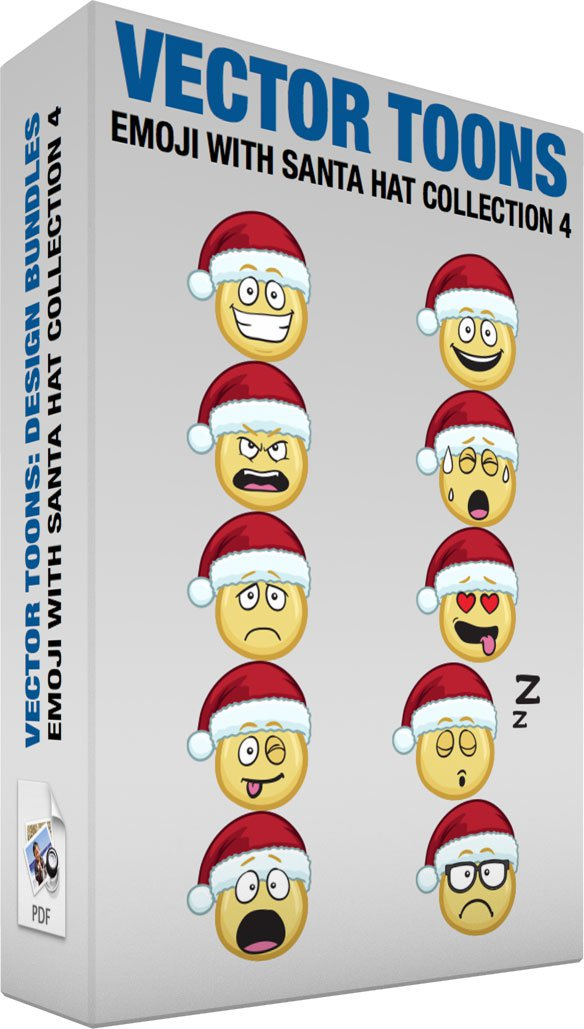 Emoji With Santa Hat Collection 4