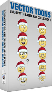 Emoji With Santa Hat Collection 5