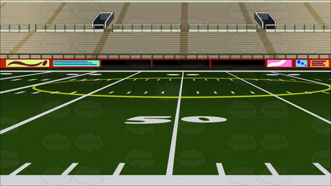 Empty Football Stadium Background