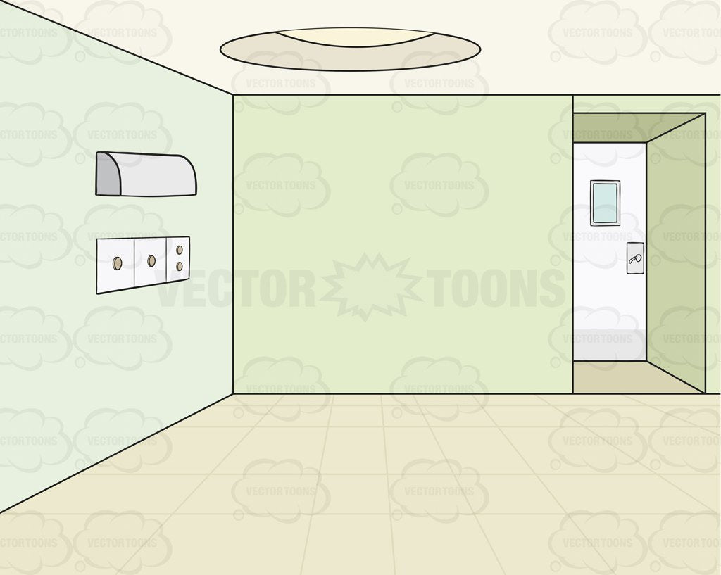 . Empty Room With Green Walls Background