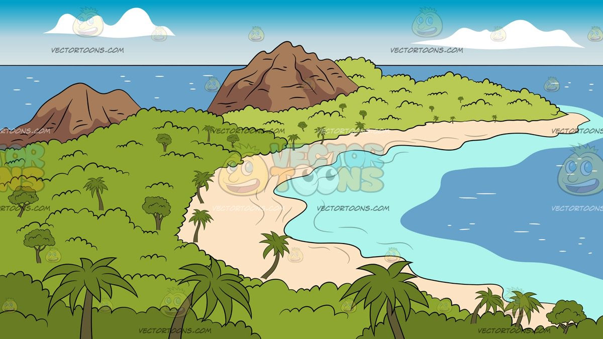 End Of A Tropical Island Background