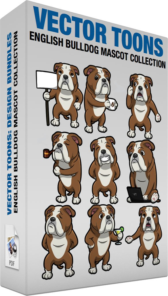 English Bulldog Mascot Collection