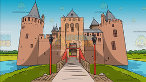 Entrance To A Castle Background