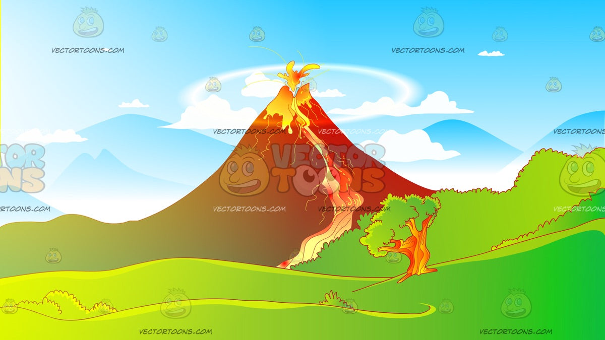 Erupting Volcano Background