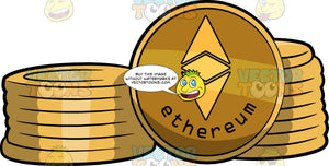 Stacks Of Ethereum Coins
