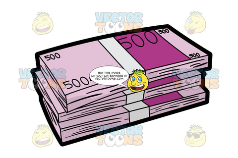 Bundles Of Five Hundred Euros