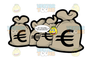 Four Sacks Of Euro Money