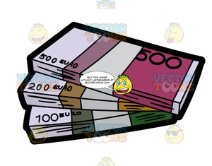 Hundred Of Euro Currency Bundle