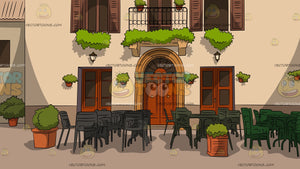 European Village Cafe Background