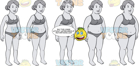 Evolution Of A Woman's Weight Gain