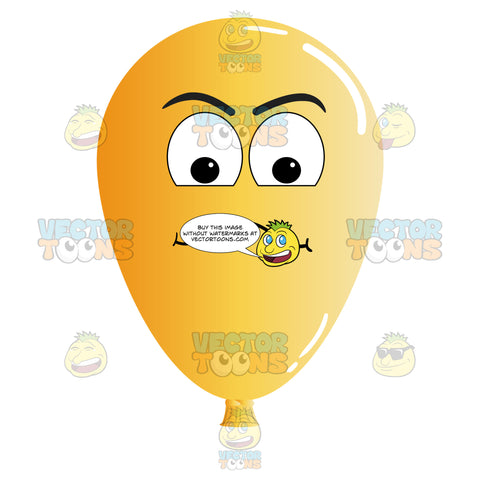 Examining Look On Yellow Orange Balloon Emoji