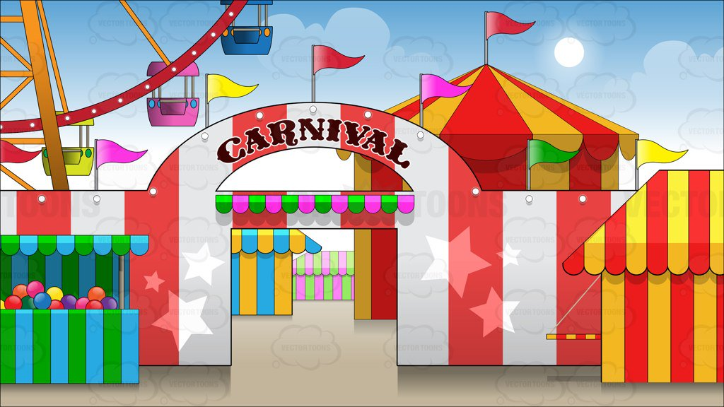 Exterior Of A Carnival Background
