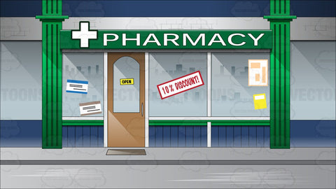 Facade Of A Pharmacy