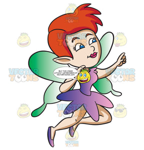 A Fairy With Flaring Red Hair