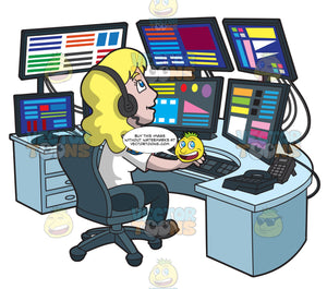 A Productive Female 911 Dispatcher