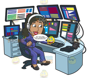 An Indian Female 911 Dispatcher