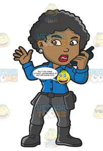 A Black Female Airport Security Guard