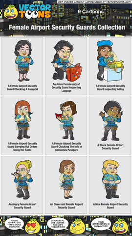 Female Airport Security Guards Collection