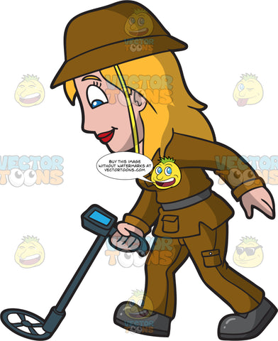 A Female Archaeologist Searching For Artifacts Underground